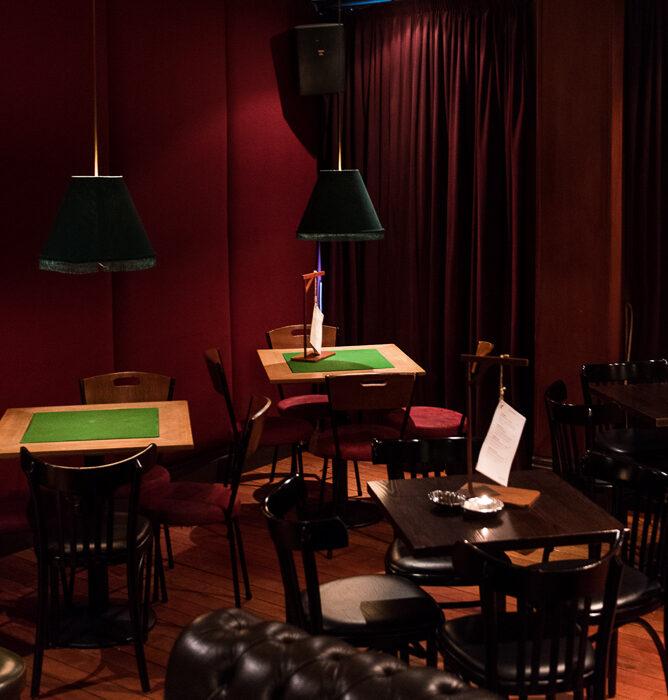 Club chair cosiness inside Hawthorn Lounge.